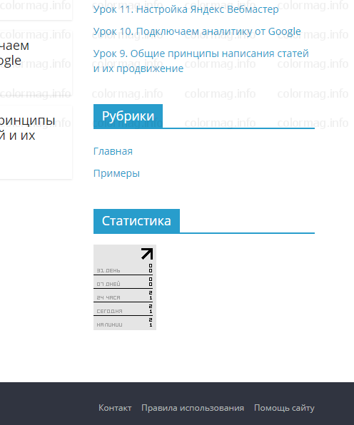 wordpress установка статистики